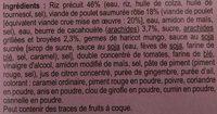 Les évasions Poulet Satay et son riz - Ingrédients - fr
