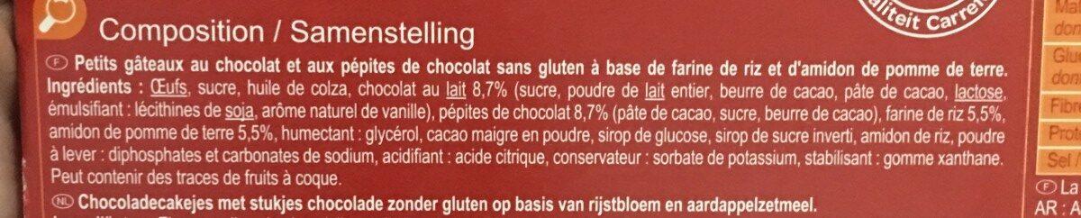 Brownies No Gluten !* - Ingredients - fr