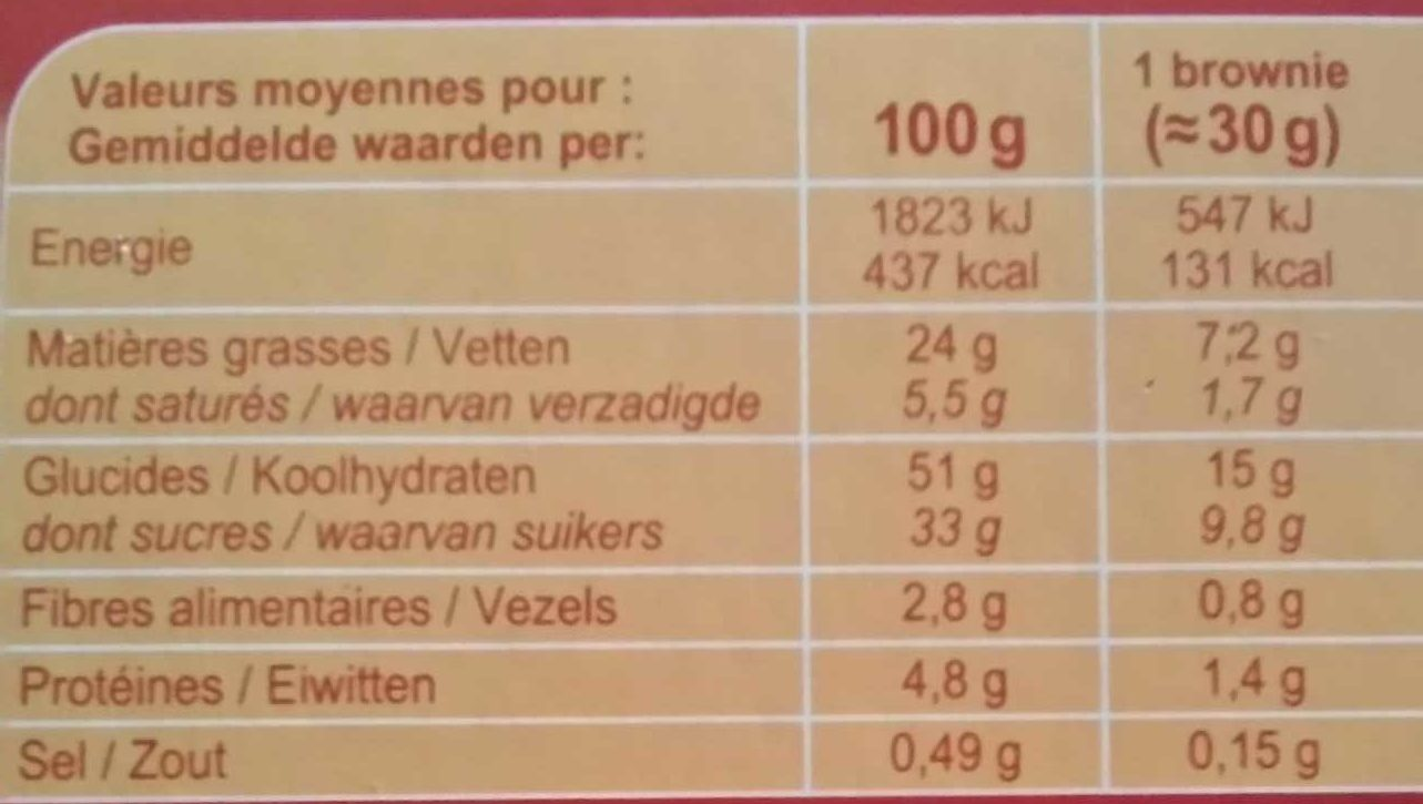 Brownies No Gluten !* - Nutrition facts - fr