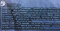 Assiette de charcuterie Jambon sec, Rosette, Bacon fumé - Ingrediënten - fr