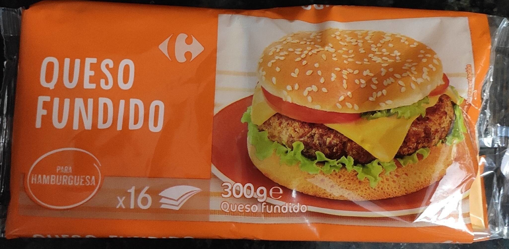 Queso fundido para hamburguesa (Carrefour) - Producte