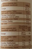 Cappuccino goût chocolat - Nutrition facts - fr