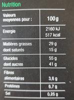Dégustation Gourmande Assortiment de biscuits pâtissiers - Nutrition facts - fr