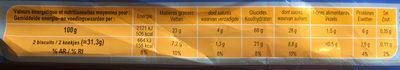 Les Palets Recette à la Madeleine - Nutrition facts - fr
