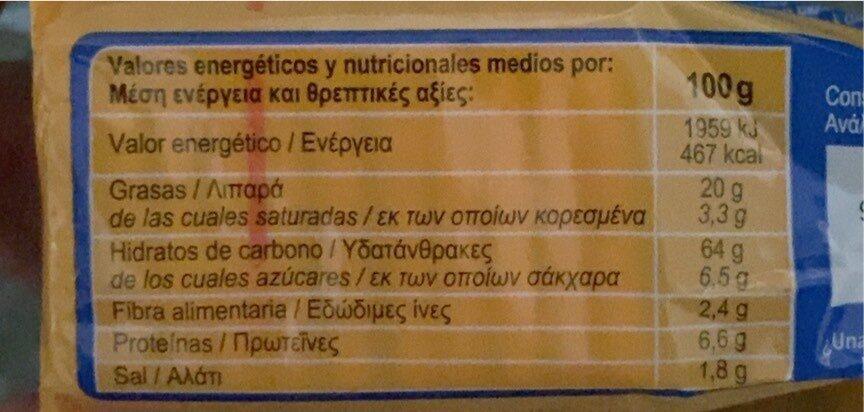 Cracker's - Información nutricional - es