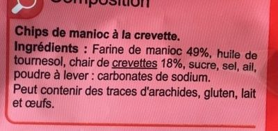 Chips à la crevette - Ingredients - fr