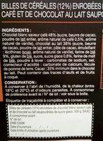 Croustilles cafe chocolat blanc - Ingredients - fr