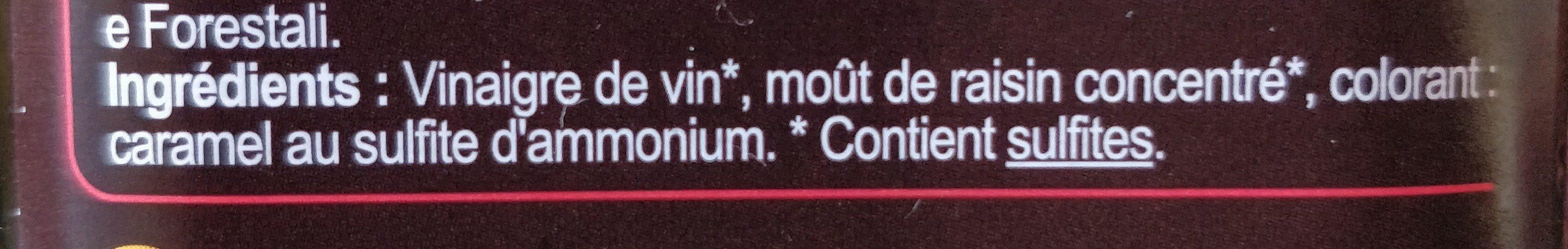 Vinaigre balsamique - Ingredients - fr