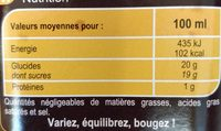 Vinaigre balsamique - Nutrition facts - fr