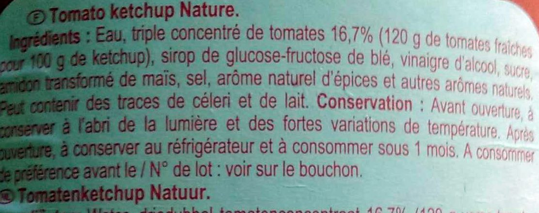 Ketchup tomato - Ingredients - fr