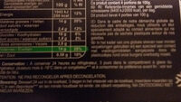 Galettes blé épinards emmental panure multigrains - Nutrition facts