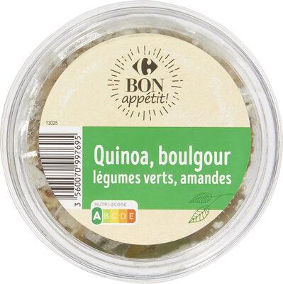 Quinoa & Boulgour Légumes Verts & amandes - Product - fr