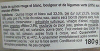 Quinoa & Boulgour Légumes Verts & amandes - Ingredients - fr