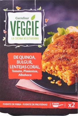 De quinoa, bulgur, lentejas coral tomate, pimientos, albahaca - Producte