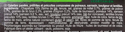 Galettes panées Sarrasin, Boulgour, Poireau - Ingredients