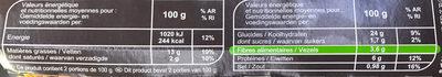 Galettes panées Sarrasin, Boulgour, Poireau - Nutrition facts