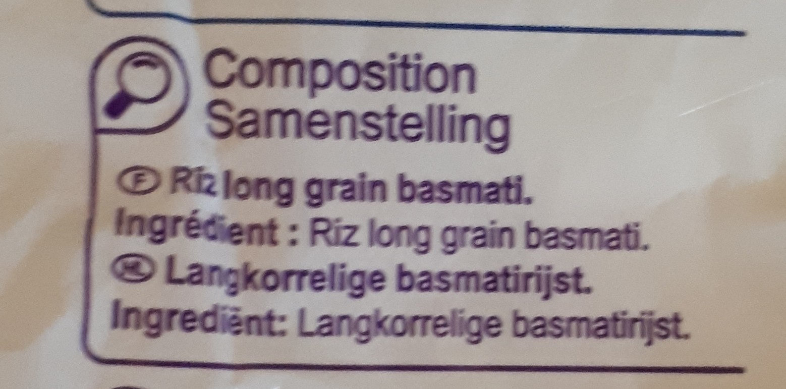riz long grain - Ingredientes