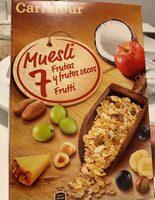 Muesli 7 fruits / secs - Producto - es