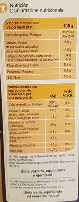 Muesli 7 fruits / secs - Ingredients - en