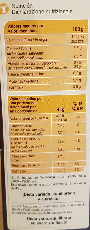 Muesli 7 fruits / secs - Ingrediënten