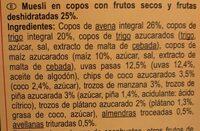 Muesli 7 fruits / secs - Ingrediënten - es