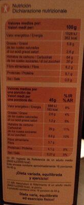 Muesli 7 fruits / secs - Nutrition facts - en