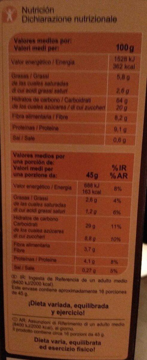 Muesli 7 fruits / secs - Voedigswaarden