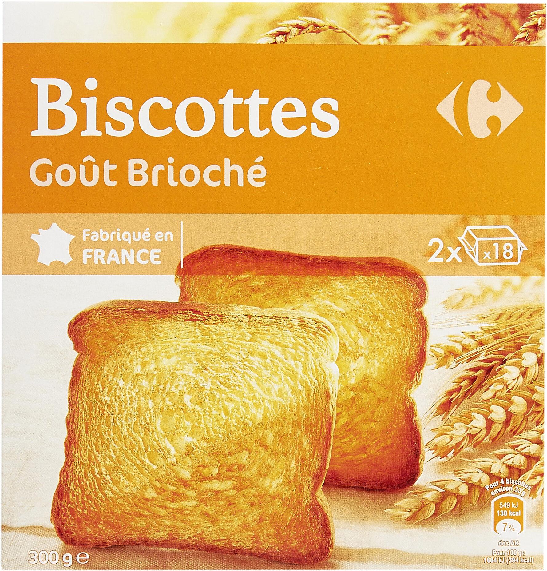 Biscottes goût brioché - Prodotto - fr