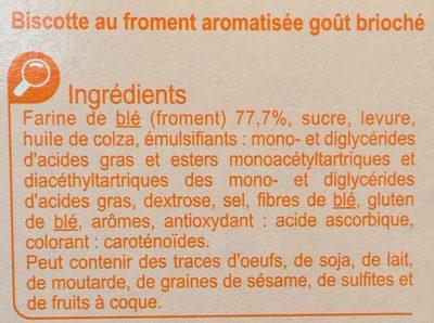 Biscottes goût brioché - Ingredienti - fr