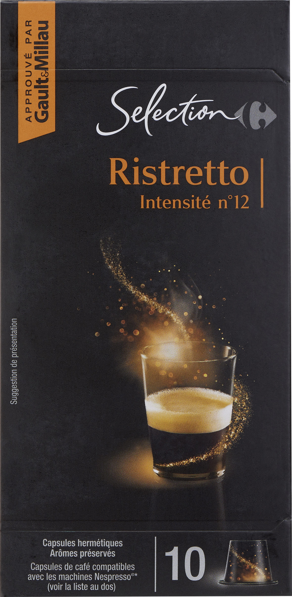 Ristretto Carrefour Selection 52 G 10 Capsules