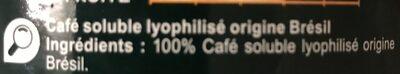 Café solublebrazil - Ingrediënten