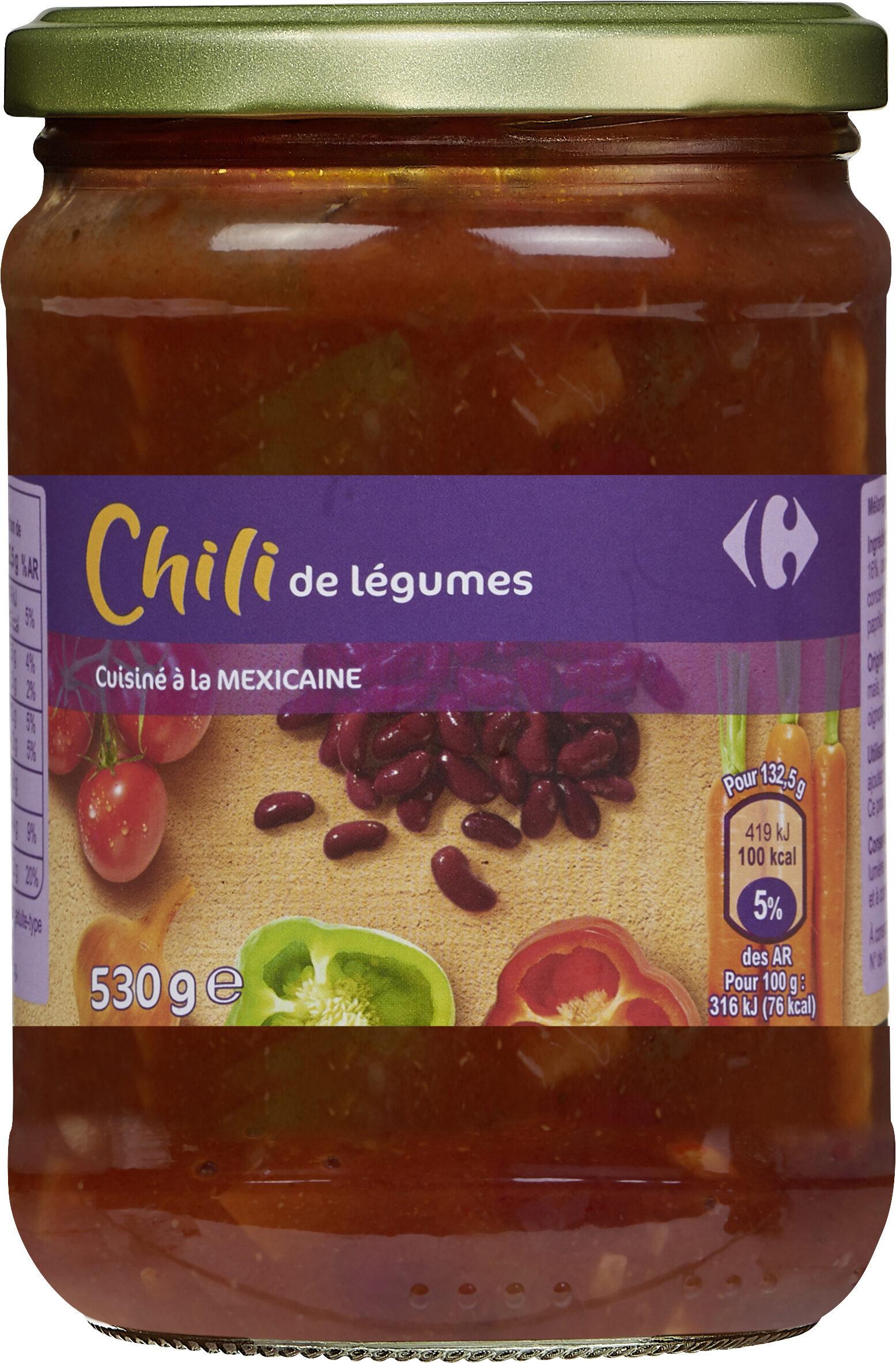 Chili de légumes cuisiné à la Mexicaine - Prodotto - fr
