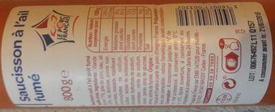 Saucisson à l'ail fumé - Produkt - fr