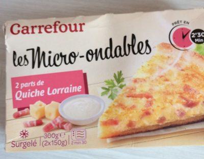 Les Micro Ondables - 2 parts de Quiche Lorraine - Produit - fr