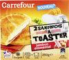 2 Sandwichs à toaster jambon emmental - surgelé - Produit