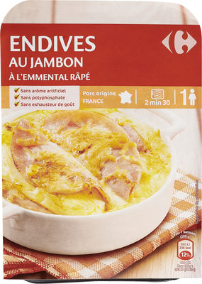Endives au jambon  A l'emmental râpé - Produit - fr