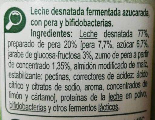 Bifidus con trozos - Ingredients