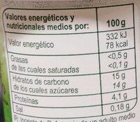 Bifidus con trozos - Informació nutricional