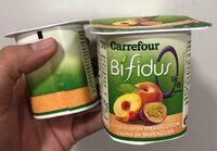 Yogur Bifidus trozoz de melocoton y maracuyá - Producte