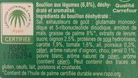 Bouillon Saveur Légumes - Ingredients - fr