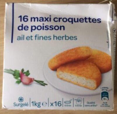 16 Grosses Croquettes De Poisson Ail Et Fines Herbes