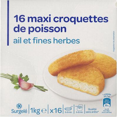 16 Grosses croquettes de poisson ail et fines herbes - Produit - fr