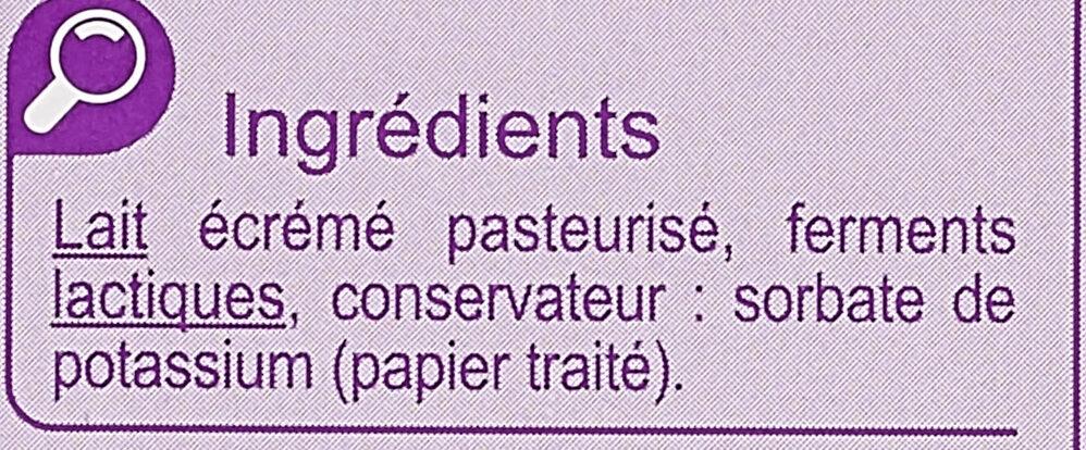Petit fromage frais 0% - Ingrediënten - fr
