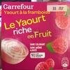 Le Yaourt riche en Fruit Framboise -