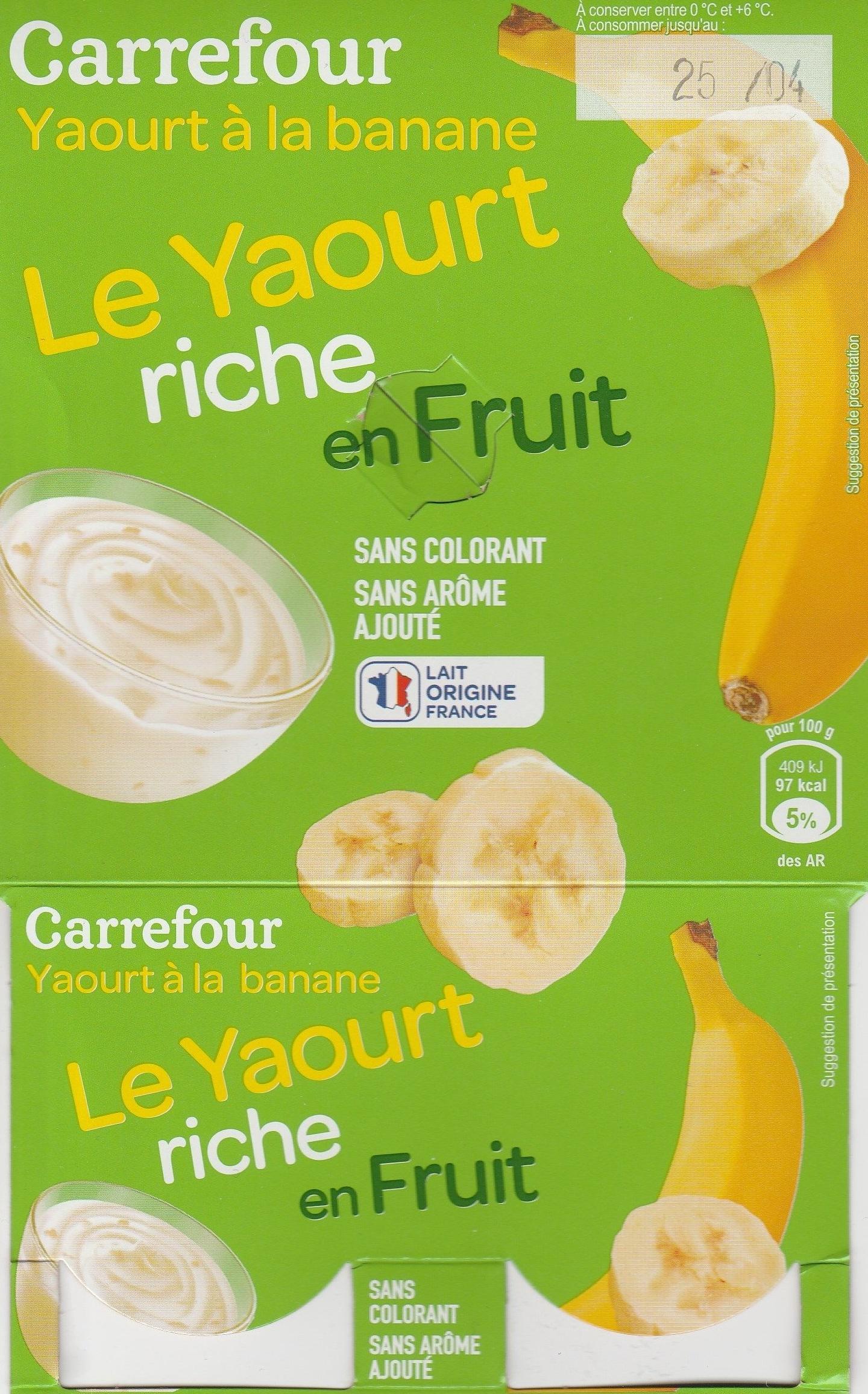 Yaourt  à la banane - Product - fr