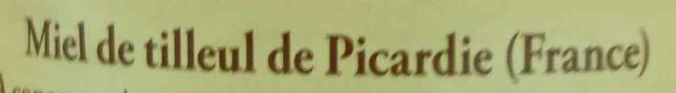 Miel de tilleul de Picardie - Ingrediënten