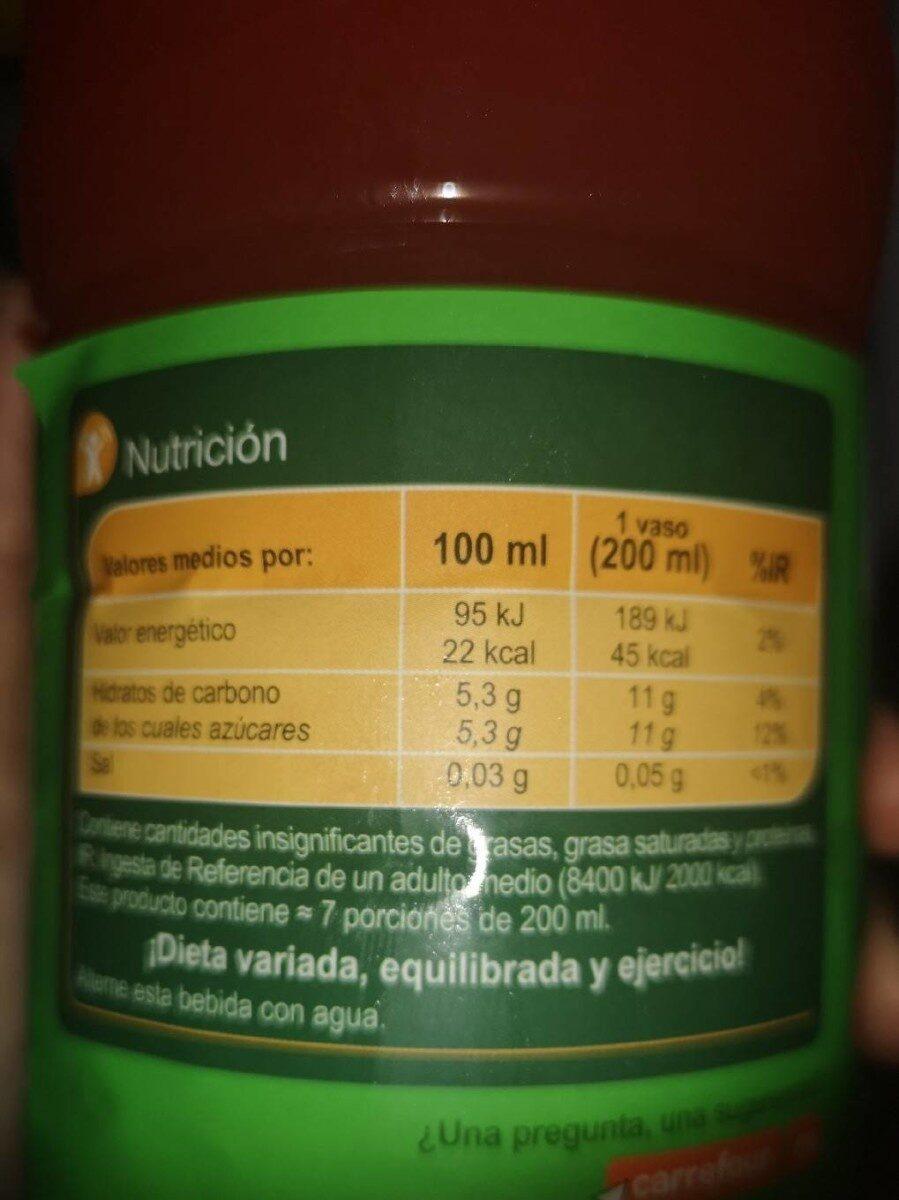 Sabor fresa - Nutrition facts