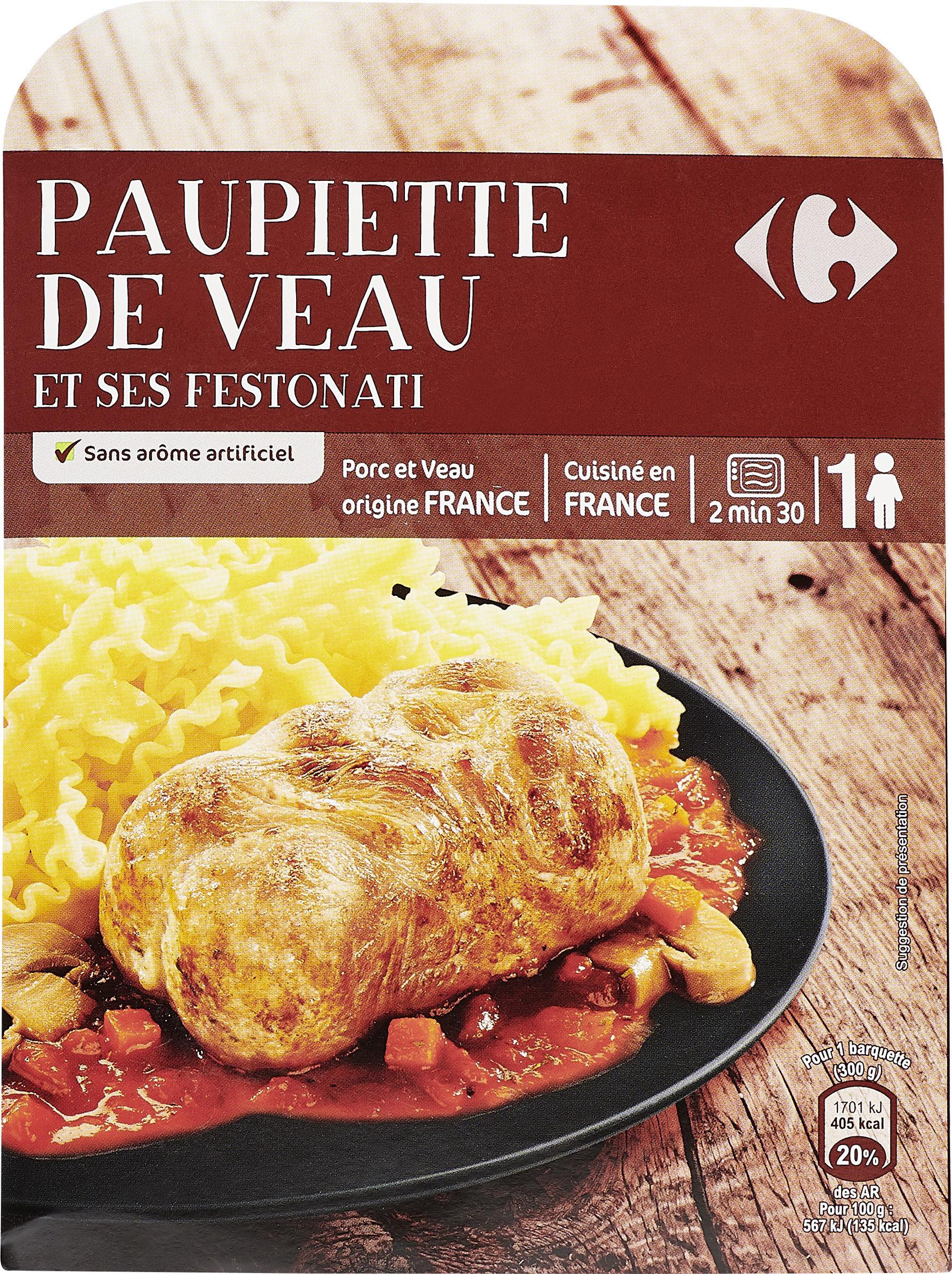 Paupiette de veau et ses festonati - Produit - fr