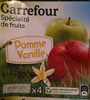 Spécialité de fruits pomme vanille - Product