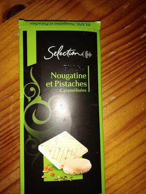 Blanc Nougatine et Pistaches Caramélisées - Produit
